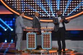 "CELEBRITY FAMILY FEUD - ""NFLPA Veterans vs. NFLPA Rookies and Wanda Sykes vs. Nia Vardalos"" - The celebrity teams competing to win cash for their charities feature the NFLPA Veterans led by the Tampa Bay Buccaneers' Gerald McCoy and the NFLPA Rookies led by the Chicago Bears' Mitch Trubisky. In a separate game, family members of comedian and actress Wanda Sykes (""black-ish"") and actress Nia Vardalos (""My Big Fat Greek Wedding"") will compete on an all-new episode of ""Celebrity Family Feud,"" SUNDAY, SEPT. 16 (8:00-9:00 p.m. EDT), on The ABC Television Network. (ABC/Byron Cohen) MITCH TRUBISKY, STEVE HARVEY, GERALD MCCOY"