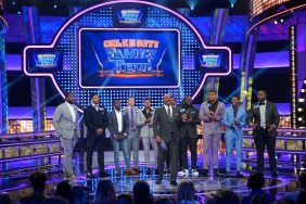 "CELEBRITY FAMILY FEUD - ""NFLPA Veterans vs. NFLPA Rookies and Wanda Sykes vs. Nia Vardalos"" - The celebrity teams competing to win cash for their charities feature the NFLPA Veterans led by the Tampa Bay Buccaneers' Gerald McCoy and the NFLPA Rookies led by the Chicago Bears' Mitch Trubisky. In a separate game, family members of comedian and actress Wanda Sykes (""black-ish"") and actress Nia Vardalos (""My Big Fat Greek Wedding"") will compete on an all-new episode of ""Celebrity Family Feud,"" SUNDAY, SEPT. 16 (8:00-9:00 p.m. EDT), on The ABC Television Network. (ABC/Byron Cohen) CAM ROBINSON, MYLES GARRETT, TRE'DAVIOUS WHITE, MITCH TRUBISKY, JAMAL ADAMS, STEVE HARVEY, TYROD TAYLOR, LEGARRETTE BLOUNT, TYROD TAYLOR, STEFON DIGGS, GERALD MCCOY"
